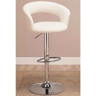 Picture of White Adjustable Barstool