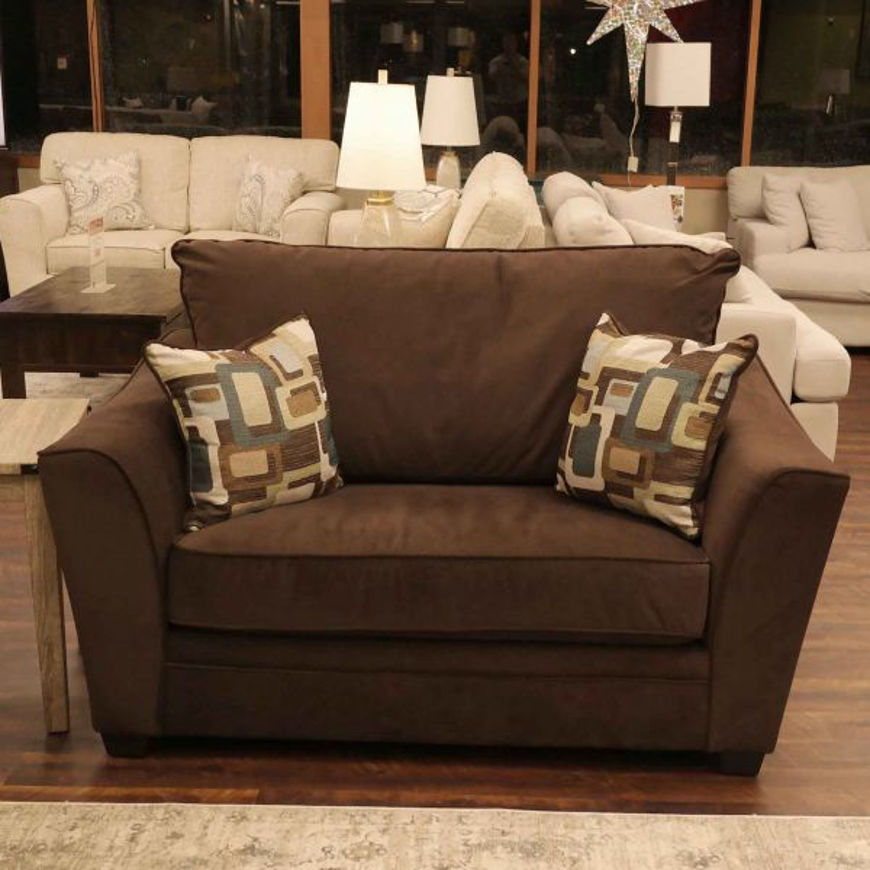 Picture of Flannel Espresso Chair & 1/2