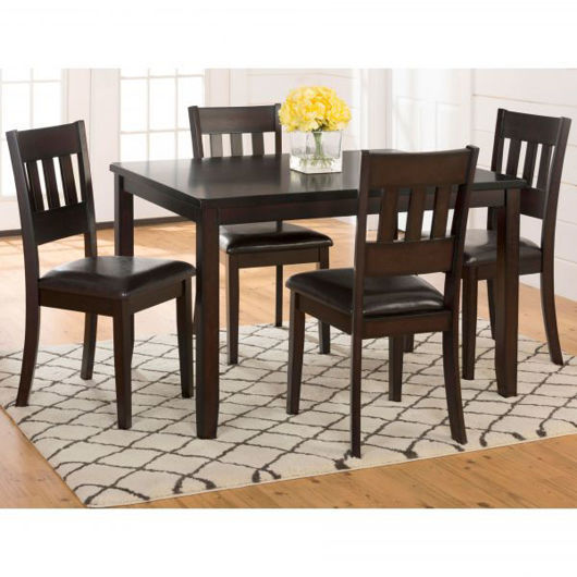 Picture of Dark Roast 5 Pc Dining Set