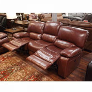 Picture of Cognac Leather Power Sofa