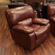 Picture of Cognac Leather Power Glider Recliner