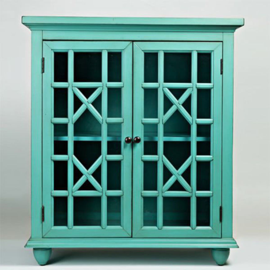 Picture of Turquoise Accent Cabinet
