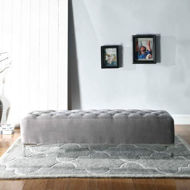Picture of Lacey Grey Upholstered Bench