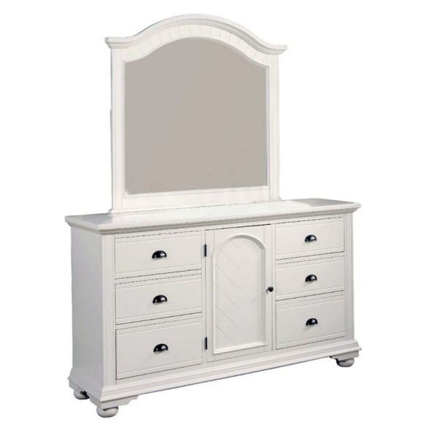 Picture of Brook White Dresser & Mirror