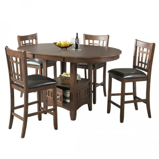 Picture of Max Cherry 5 Pc Counter High Dining Set