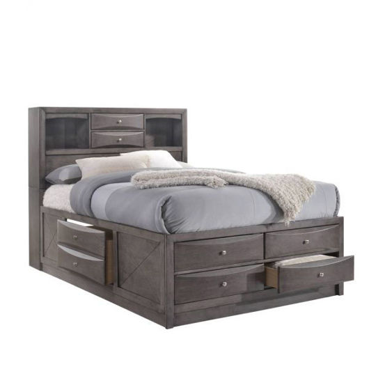 Picture of Emily Grey Full Storage Bed