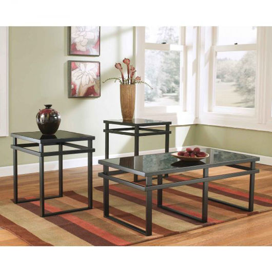 Picture of Laney Black 3 Pc Table Set