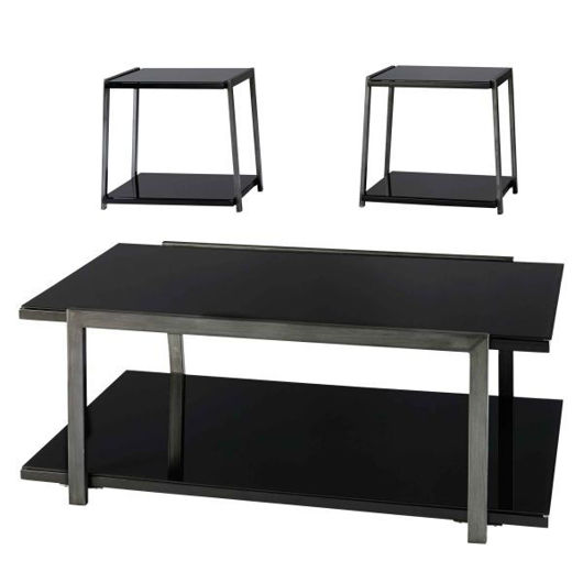 Picture of Rollynx Black 3 Pc Table Set