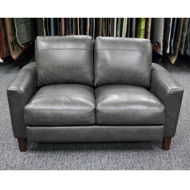 Picture of Chino Grey Leather Loveseat