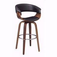 "Picture of Walnut/Black 30"" Barstool"