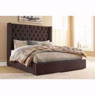 Picture of Norrister Brown Queen Storage Bed