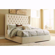 Picture of Norrister Beige Queen Storage Bed