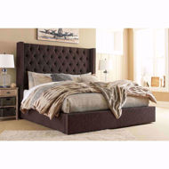 Picture of Norrister Brown King Storage Bed