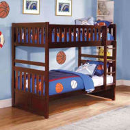 Picture of Twin Bunkbed-Merlot