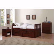 Picture of Twin Captains Bed-Merlot