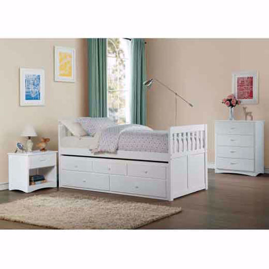 Picture of Twin Captains Bed-White