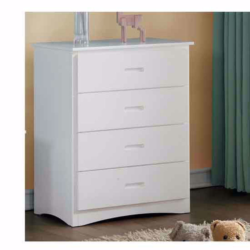 Picture of 4 Drawer Chest-White