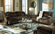Picture of Chocolate Reclining Sofa