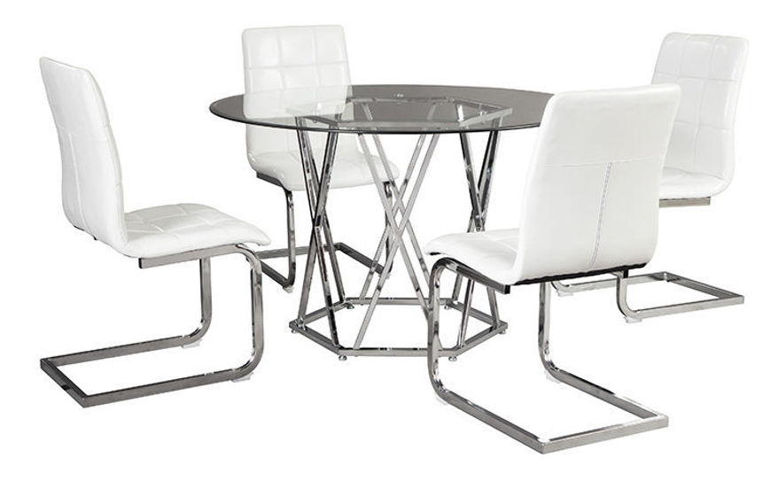 Picture of Madanere 5 Pc Dining Set White