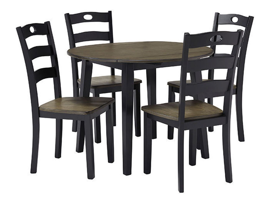 Picture of Froshburg 5 Pc Drop Leaf Round Dining Set