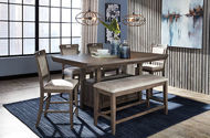 Picture of Johurst 6 Pc Counter Dining Table with Bench