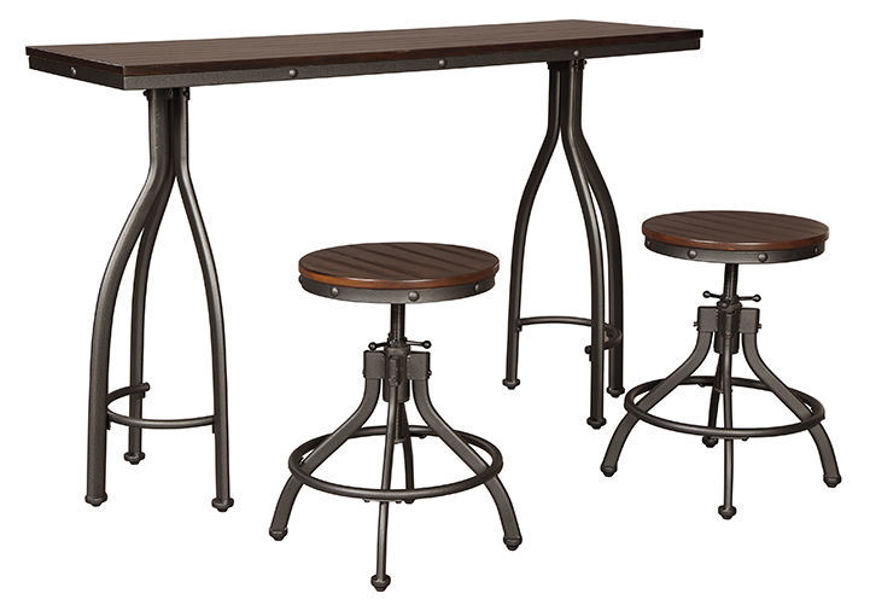 Picture of Odium 3 Pc Counter Dining Table Set