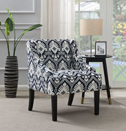 Picture of Navy Print Accent Chair