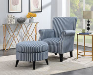 Picture of Blue Stripe Accent Chair