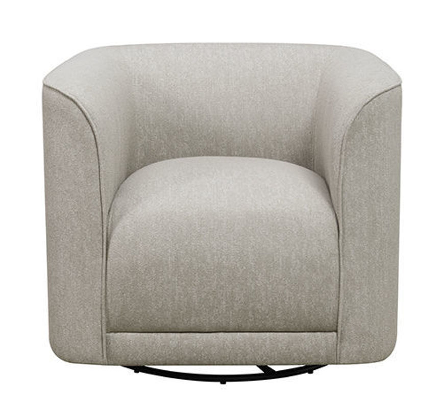 Picture of Grey Swivel Accent Chair