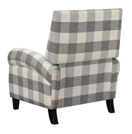 Picture of Grey Plaid Push Back Chair