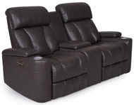 Picture of Reclining Power Loveseat Black