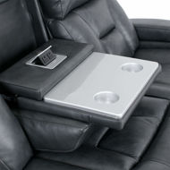 Picture of Livorno Grey Leather Reclining Sofa with Power
