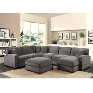 Picture of Repose Charcoal 3 Pc Sectional
