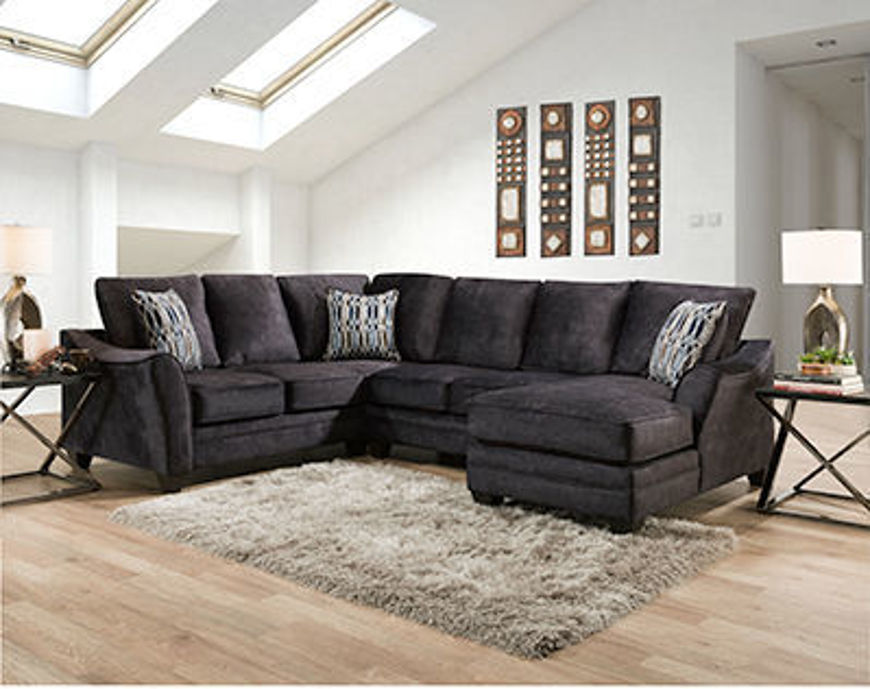 Picture of Athena Grey 3Pc RAF Sectional