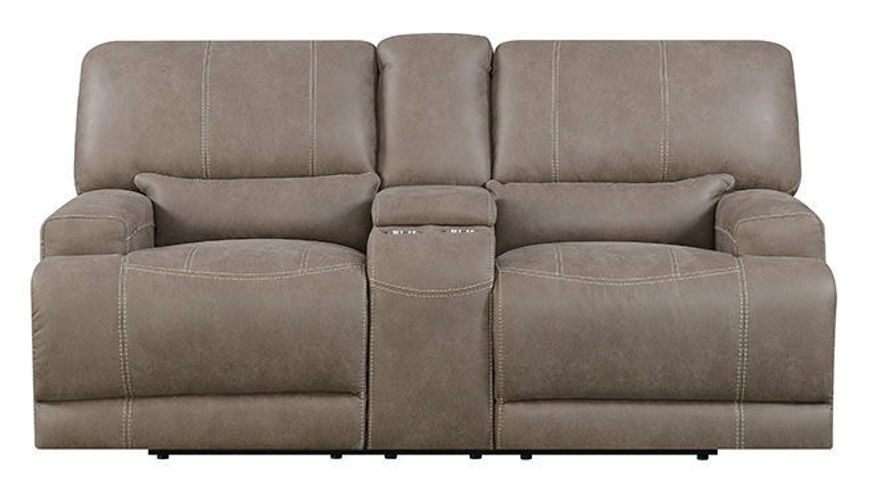 Picture of Mushroom Power Reclining Loveseat