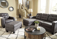 Picture of Venaldi Sofa Chaise Gunmetal