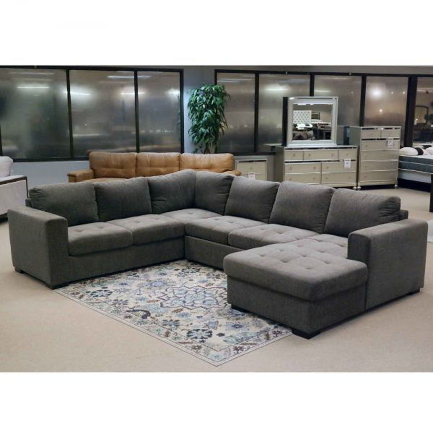 Picture of Posh Smoke 3 Pc RAF Sectional