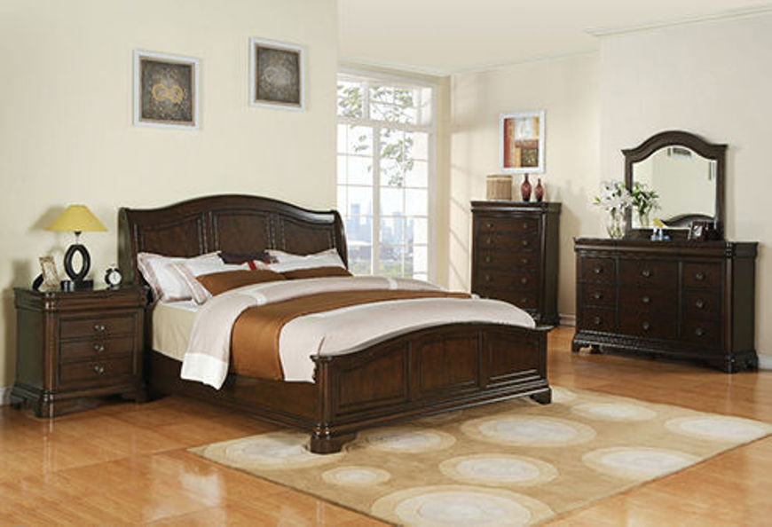 Picture of Cameron Cherry Queen Bed