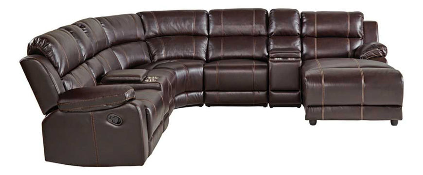 Picture of Agnes Walnut 8 PC Sectional