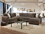 Picture of Akan Mocha 2PC RSF Chaise Sectional